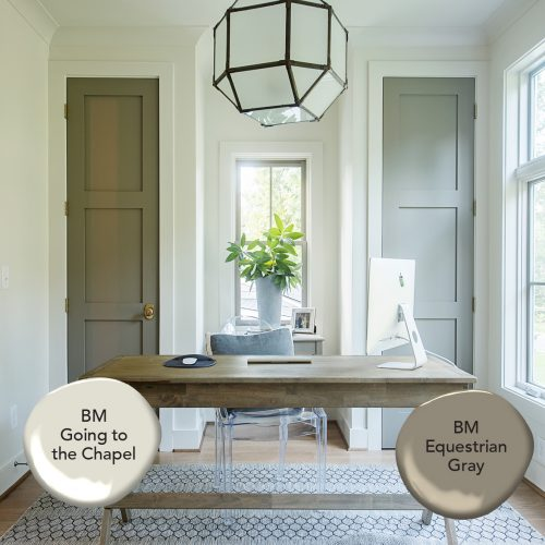 Benjamin Moore Going to the Chapel and Equestrian Gray