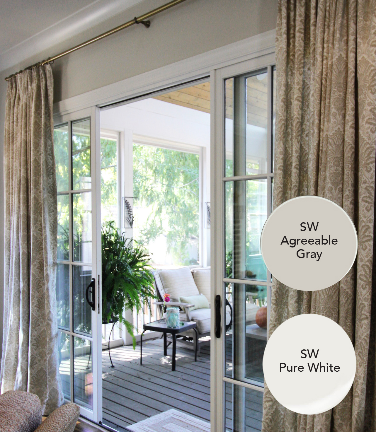 Sherwin Williams Agreeable Gray and Pure White