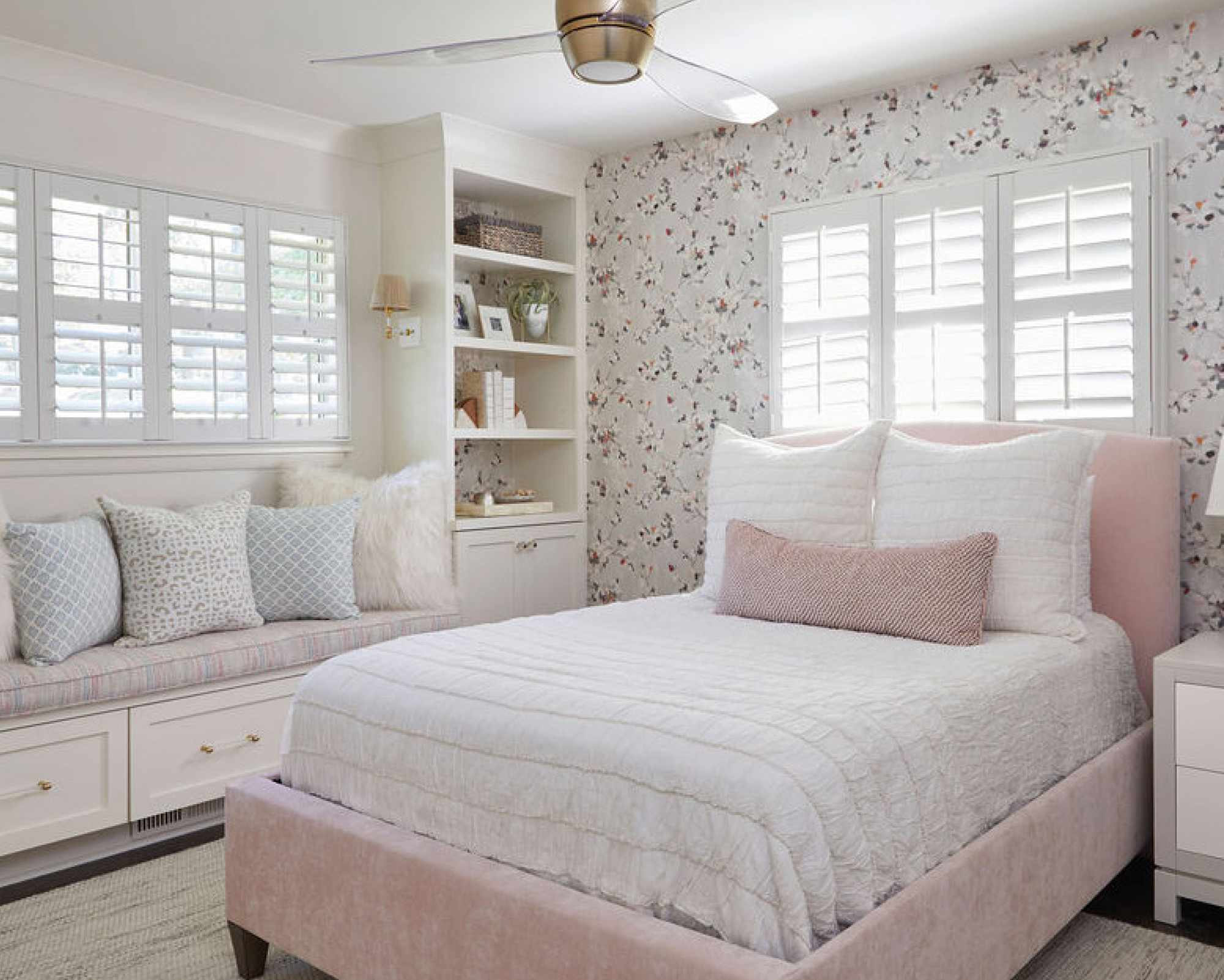 Florals with Function Wallpaper Shelving
